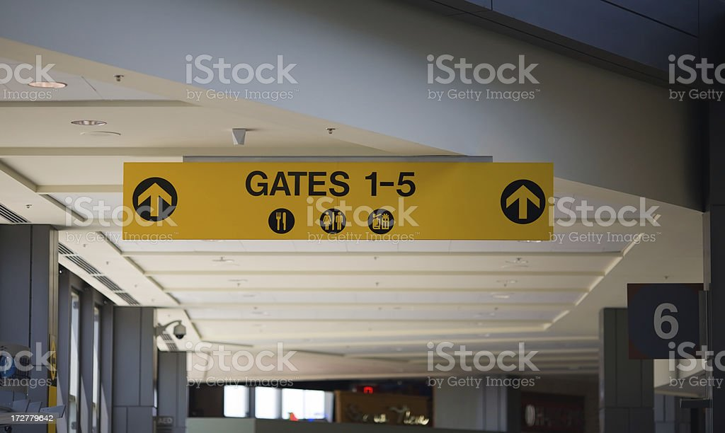 Airport Gate Sign stock photo
