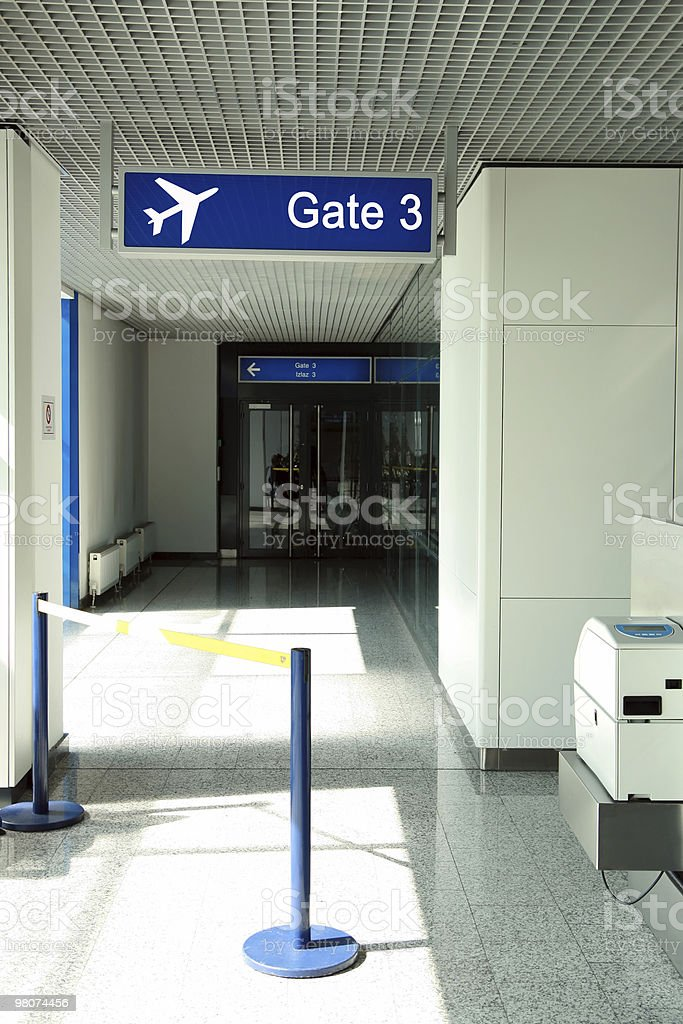 Aeroporto di gateway foto stock royalty-free