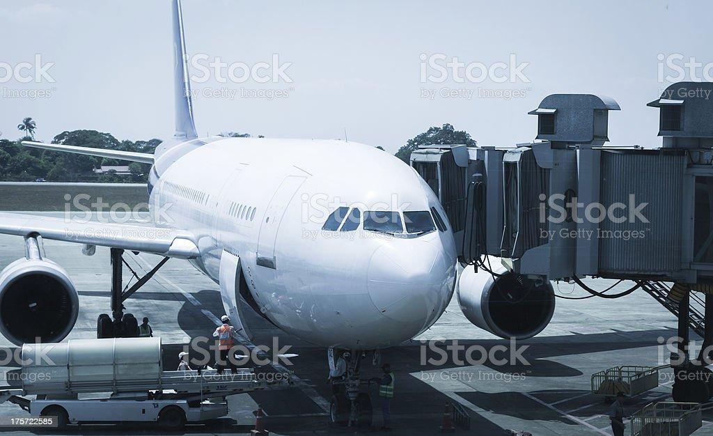 airport ground crew service royalty-free stock photo