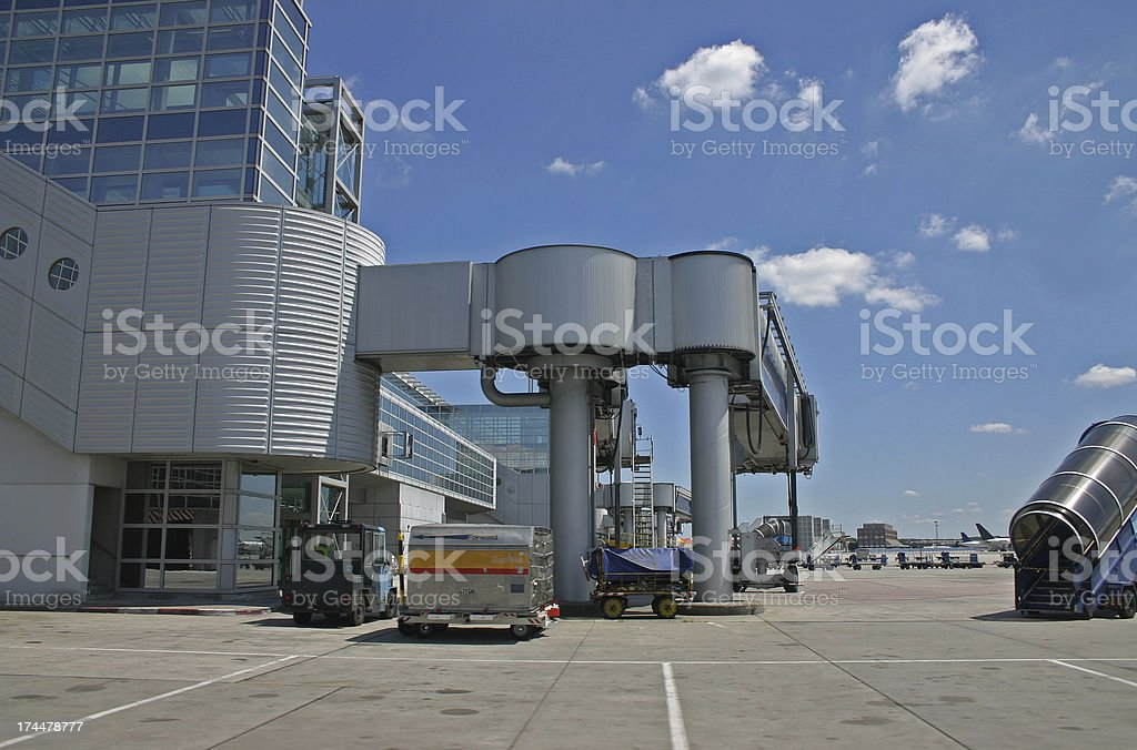Airport ground equipment royalty-free stock photo