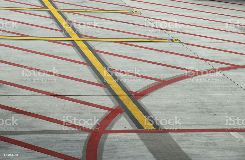 Airport Ground Markings Abstract royalty-free stock photo