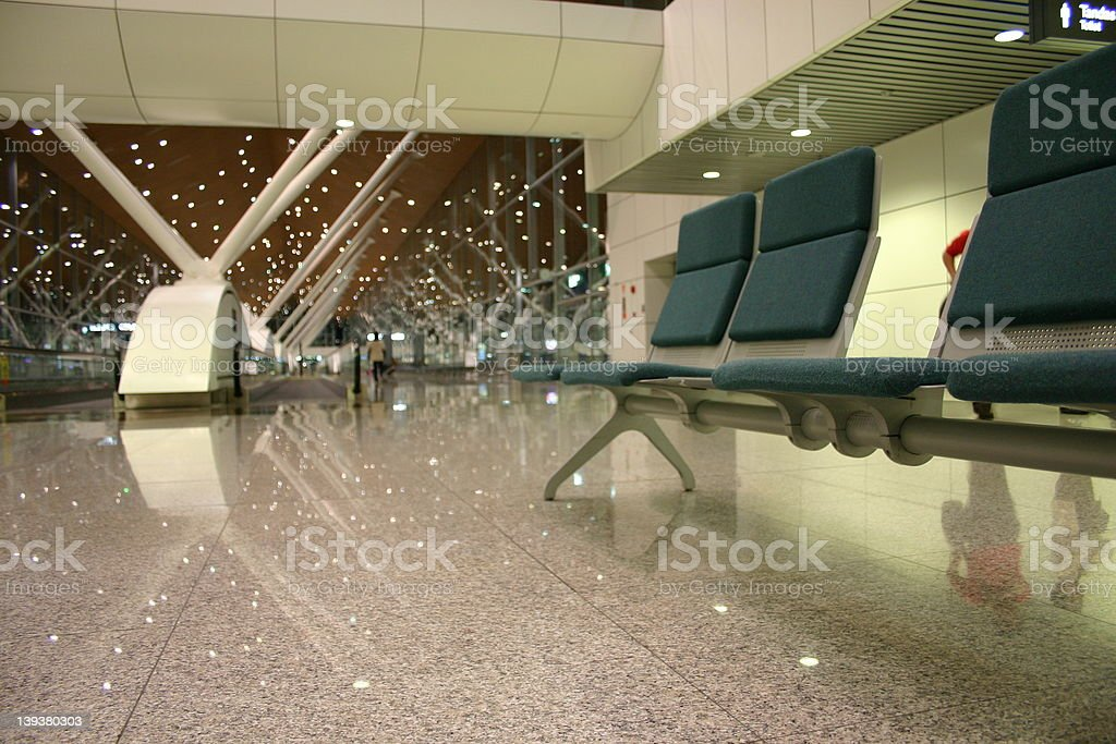 Airport hall chairs royalty-free stock photo