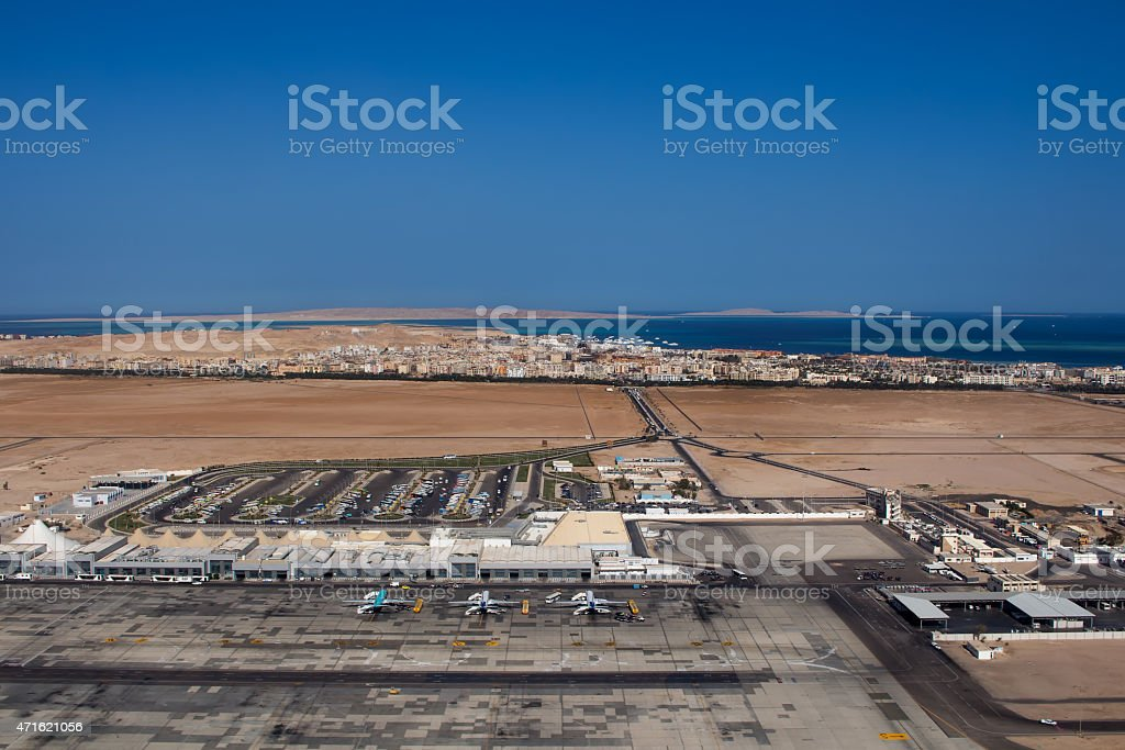 Airport in Hurghada, Egypt stock photo