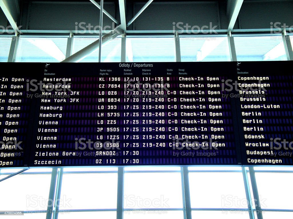 Airport in Warsaw - Capital of Poland royalty-free stock photo