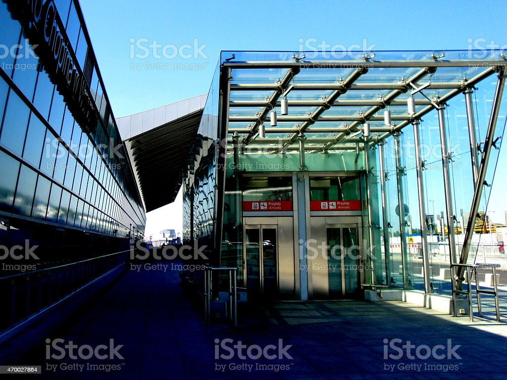 Airport in Warsaw - Capital of Poland stock photo