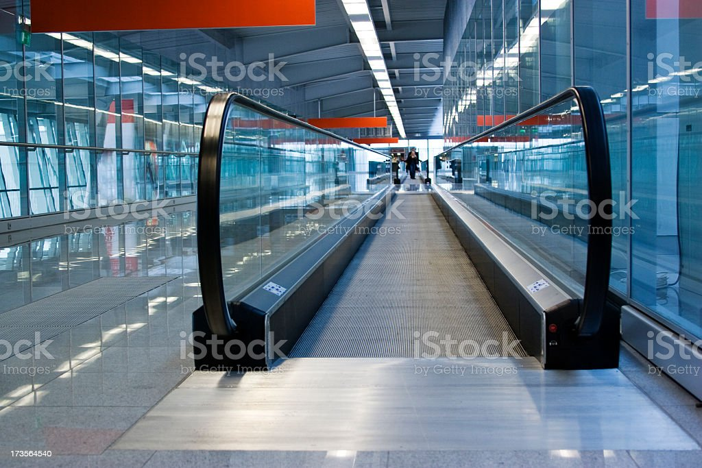 Airport in Warsaw: passenger transporter royalty-free stock photo