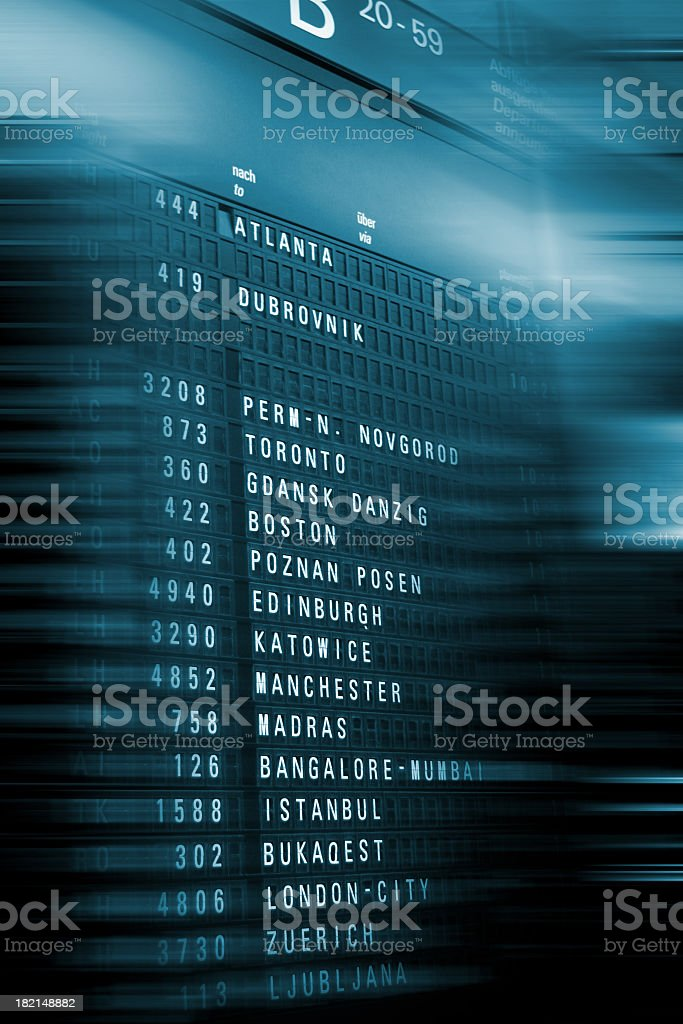 airport information board royalty-free stock photo