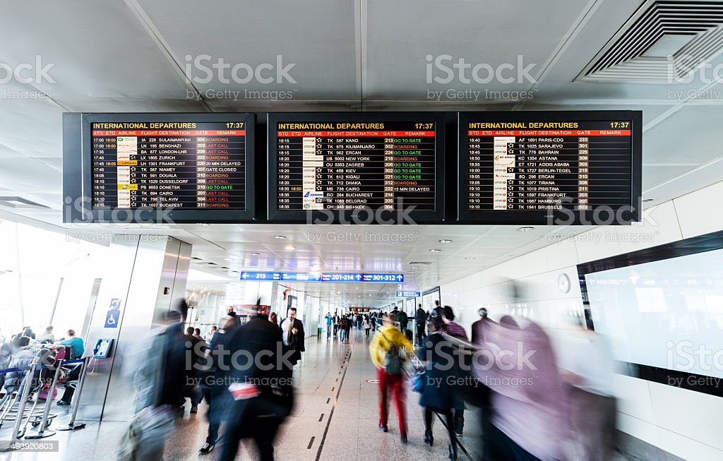 airport, information board stock photo