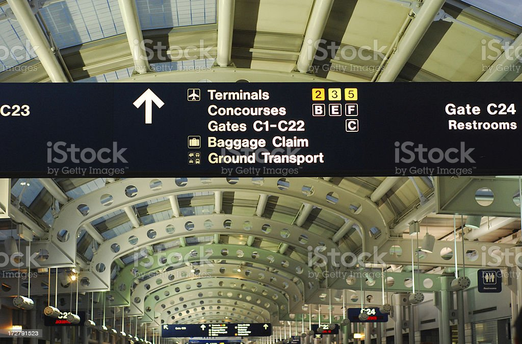 Airport Information Sign royalty-free stock photo