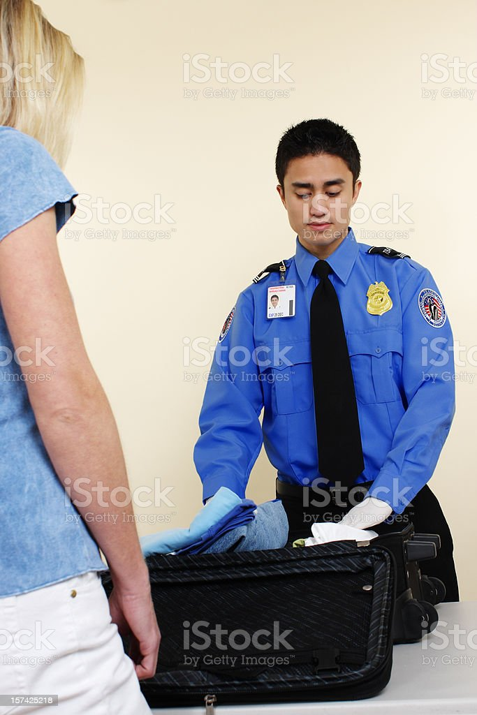 Airport Inspector stock photo