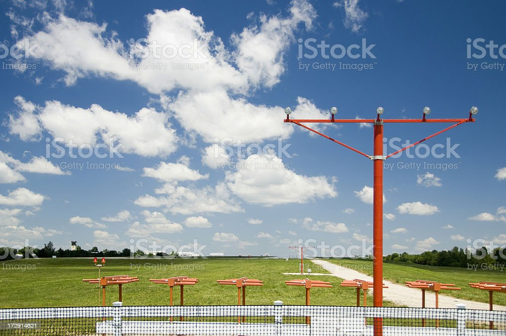 Airport Instrament Landing System stock photo