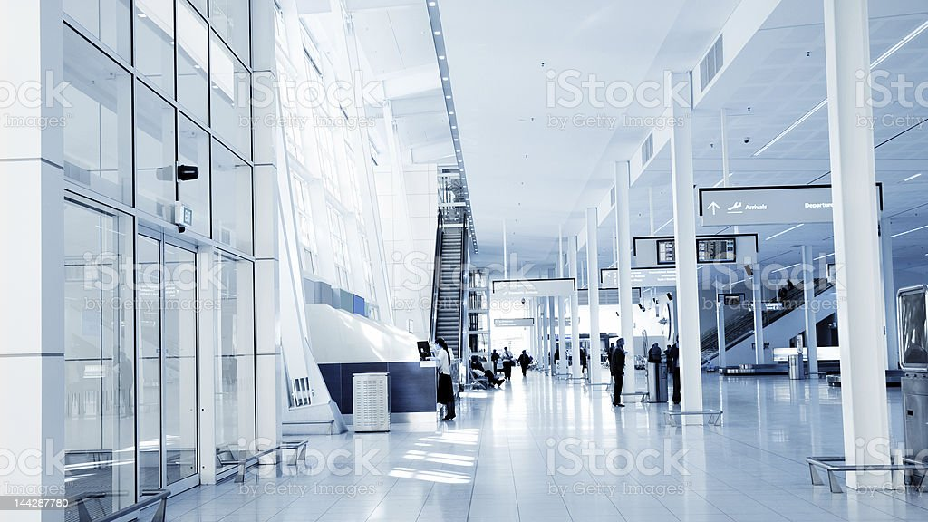 Airport Interior stock photo