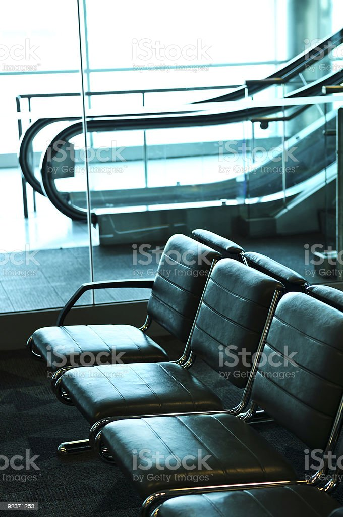 Airport interior royalty-free stock photo