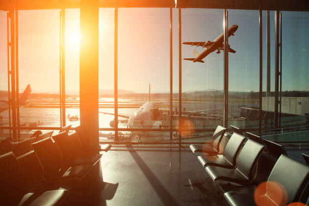 airport interior travel airplane take off - airport check in counter stock pictures, royalty-free photos & images