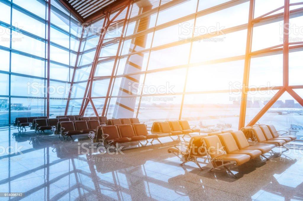 Flughafen innen reisen – Foto