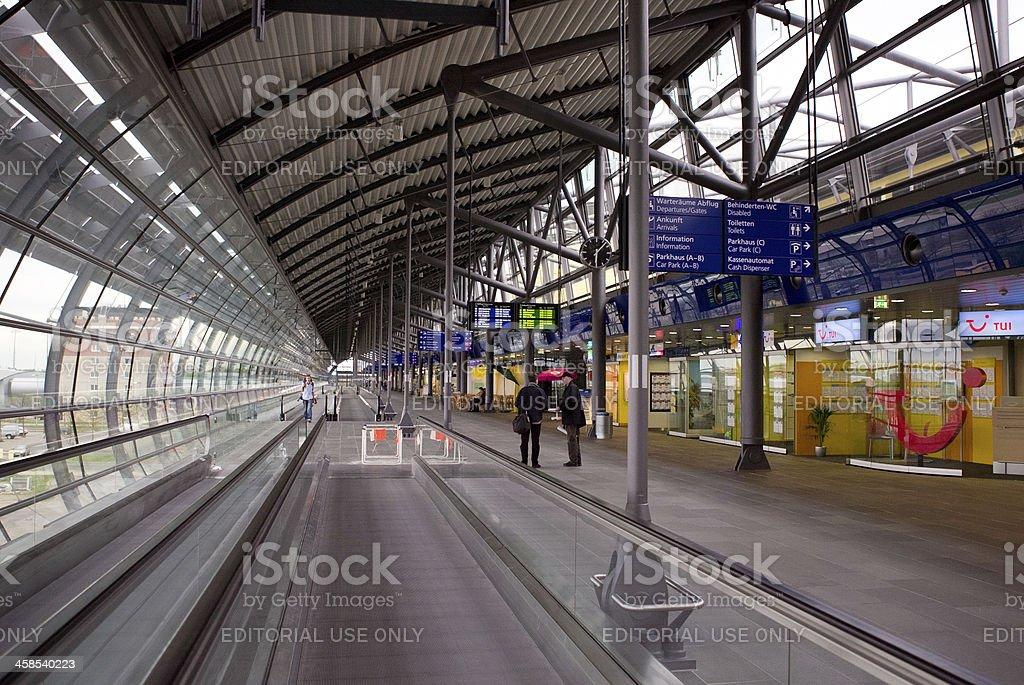 Airport Leipzig Terminal Germany royalty-free stock photo