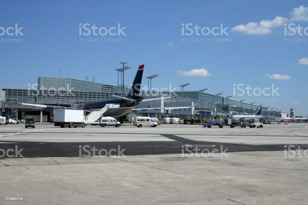 Airport life stock photo