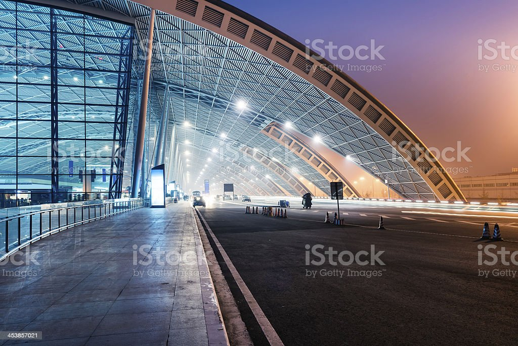 airport location stock photo