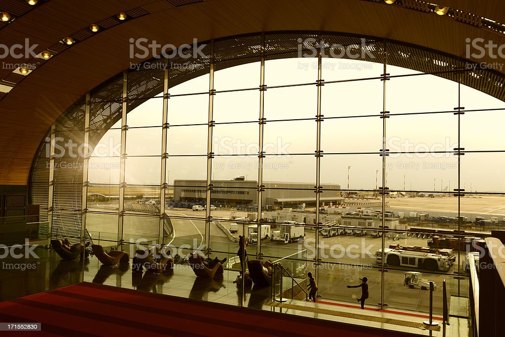 Airport Lounge,Paris-France royalty-free stock photo