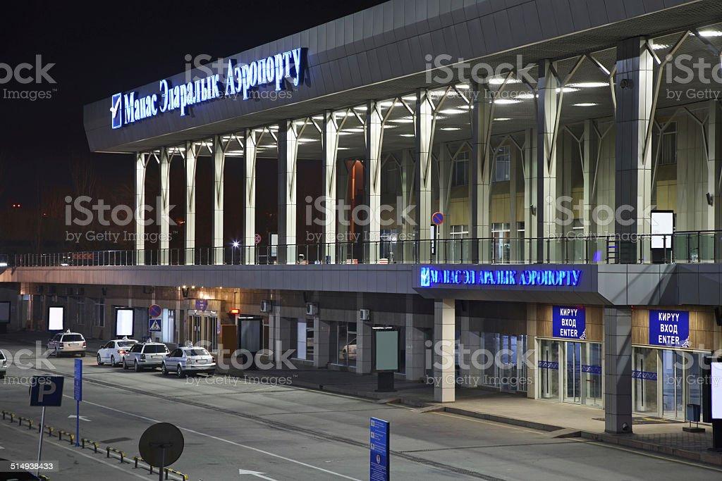 Airport Manas in Bishkek. Kyrgyzstan stock photo