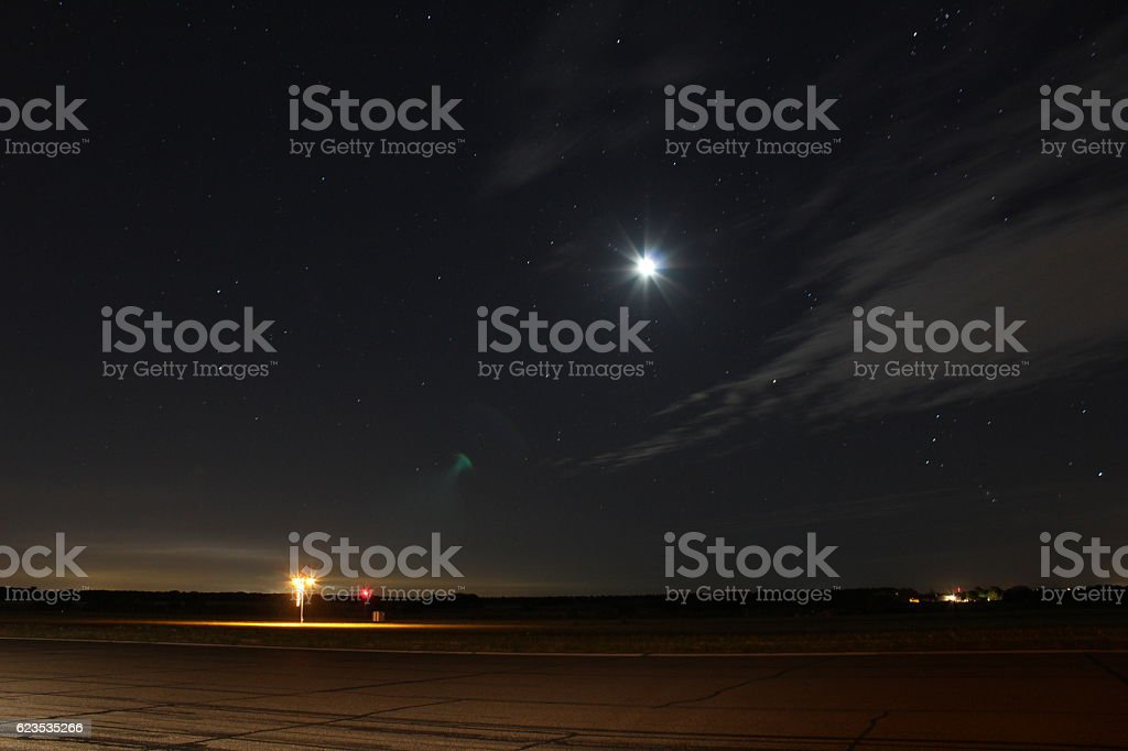 Airport Night Landscape - foto stock