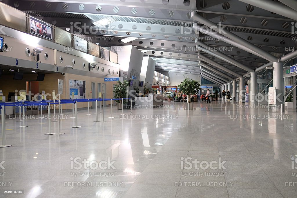 airport of Podgorica stock photo