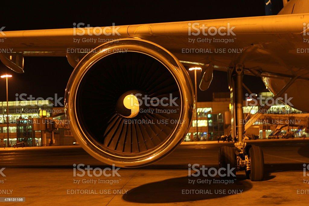 Le operazioni aeroportuali - foto stock