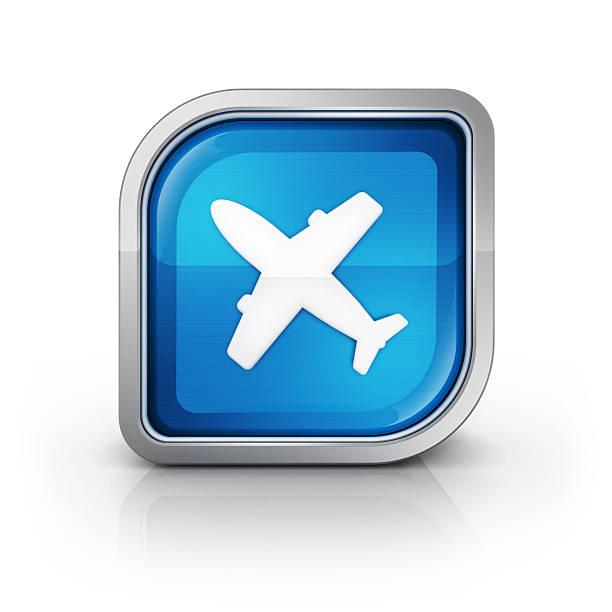 flughafen oder flugzeug flug-symbol - pictafolio stock-fotos und bilder