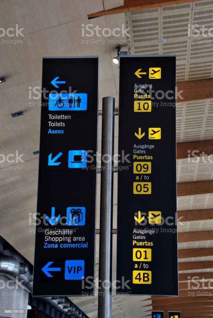 Panneau de l'aéroport - Photo