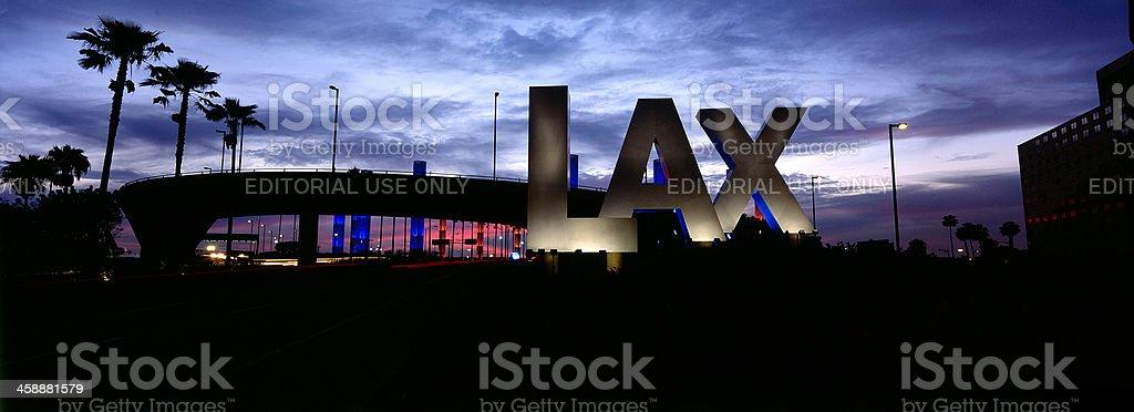 LAX Airport Panoramic stock photo