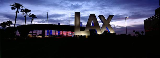 Aeroporto LAX panorâmica - foto de acervo