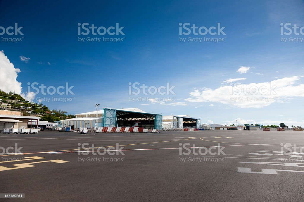 Airport Papeete Tahiti French Polynesia stock photo
