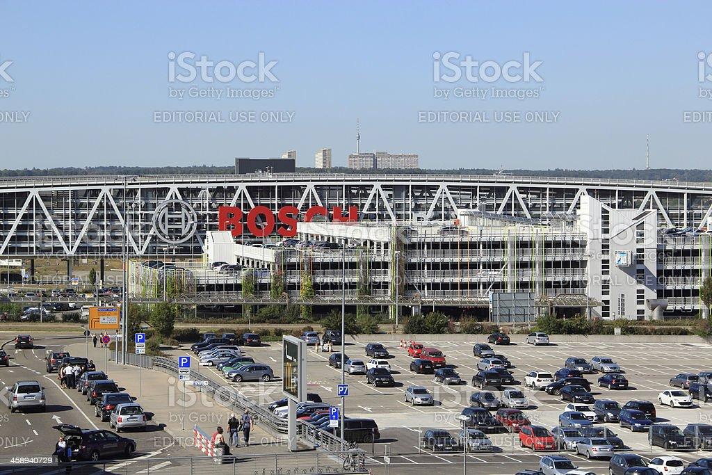 Airport parking in Stuttgart royalty-free stock photo