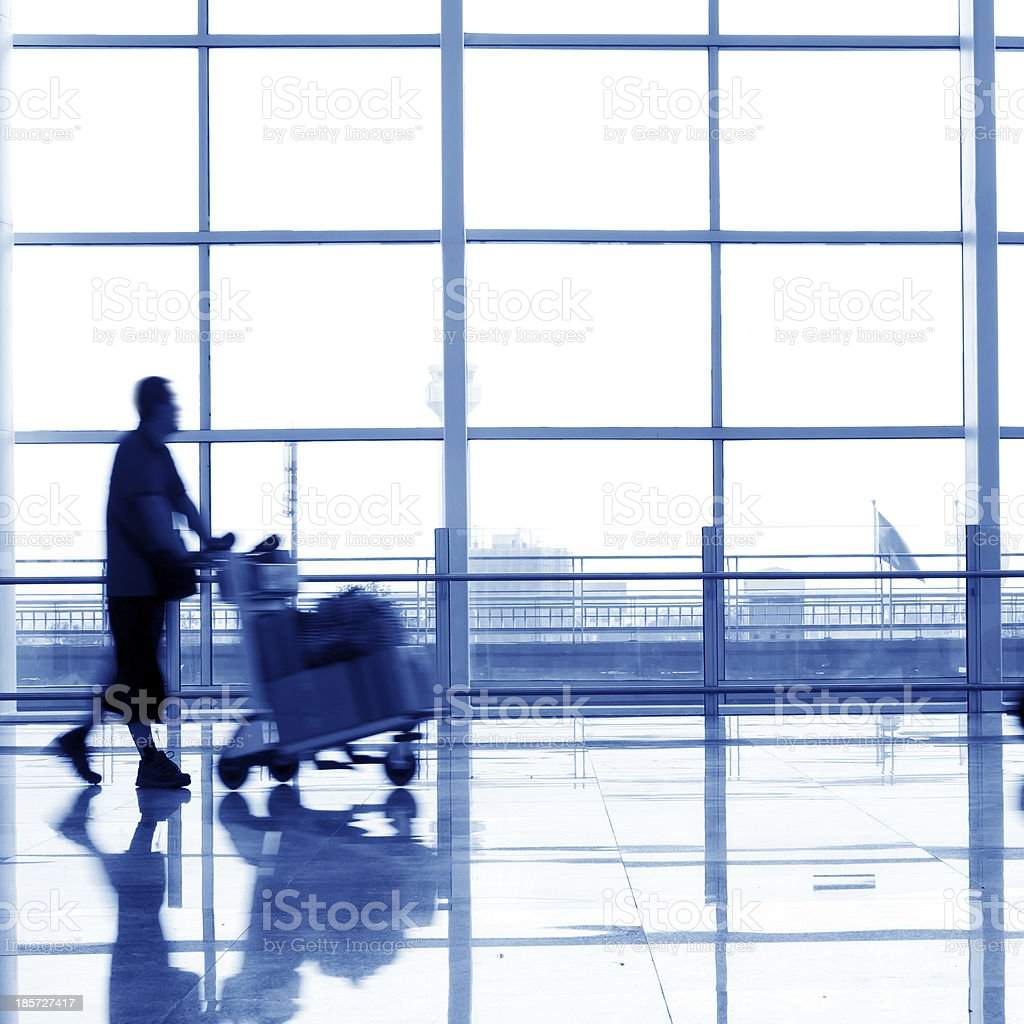 Airport passenger royalty-free stock photo