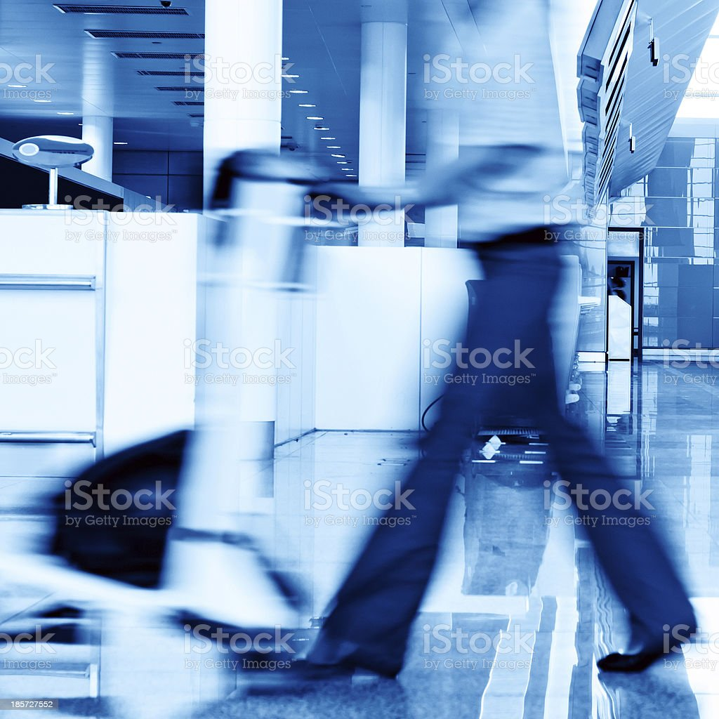 Airport passenger royalty-free stock photo