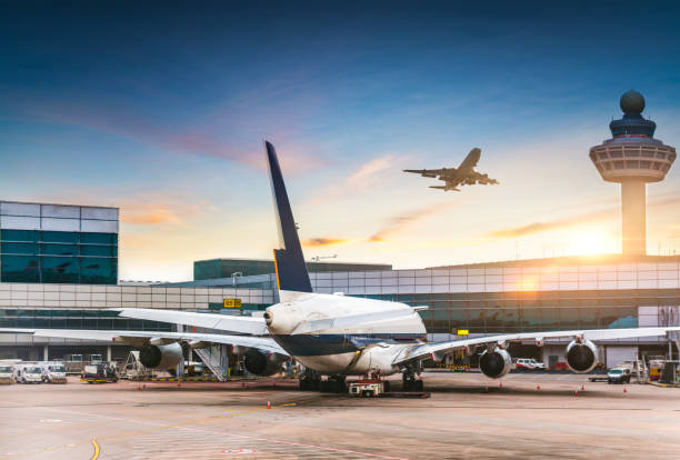 airport - aeroporto foto e immagini stock