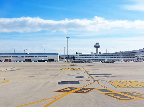 Airport Airport field, Palma de Mallorca airfield stock pictures, royalty-free photos & images