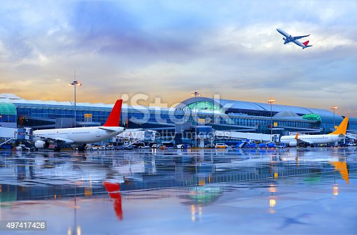 Airport in İzmir, Turkey ( Adnan Menderes Airport )