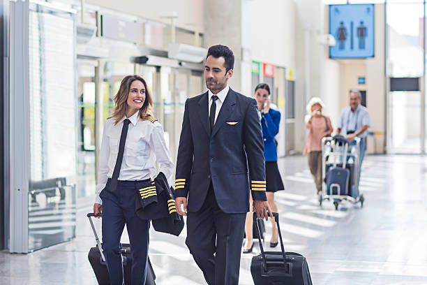 airport - pilot stock photos and pictures