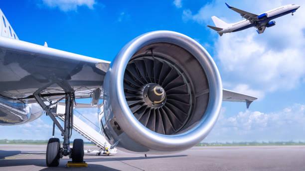 airport - silnik odrzutowy zdjęcia i obrazy z banku zdjęć