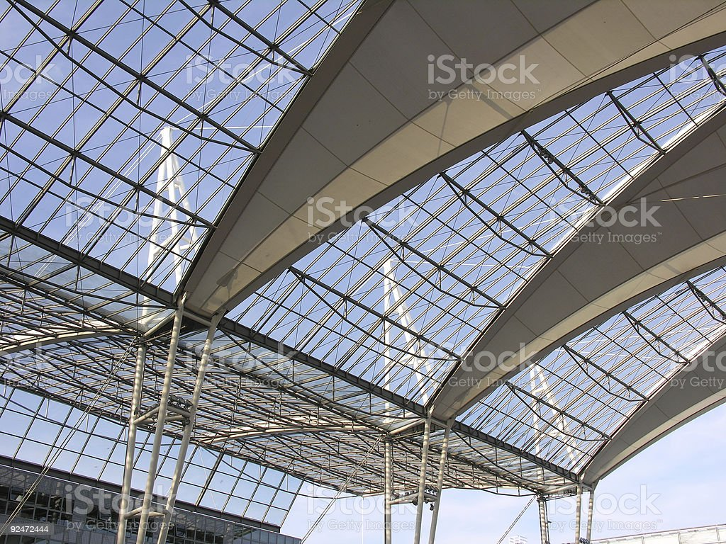 Airport roof royalty-free stock photo