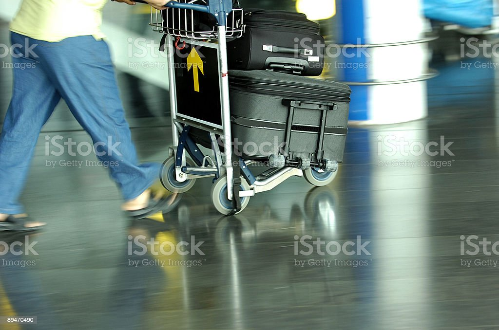 Airport running royalty-free stock photo