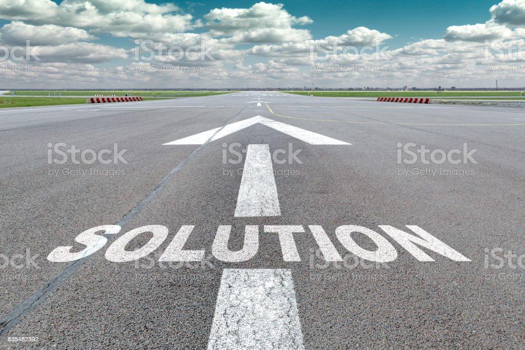 Flughafen-Start-und Landebahn-Pfeil-Lösung – Foto