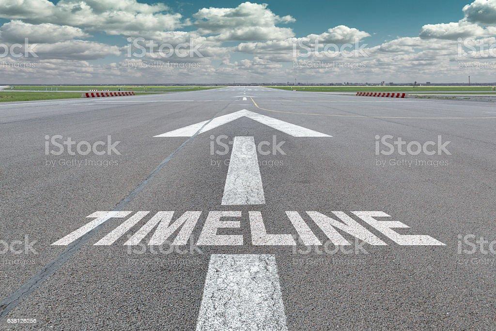 Airport runway arrow timeline – Foto