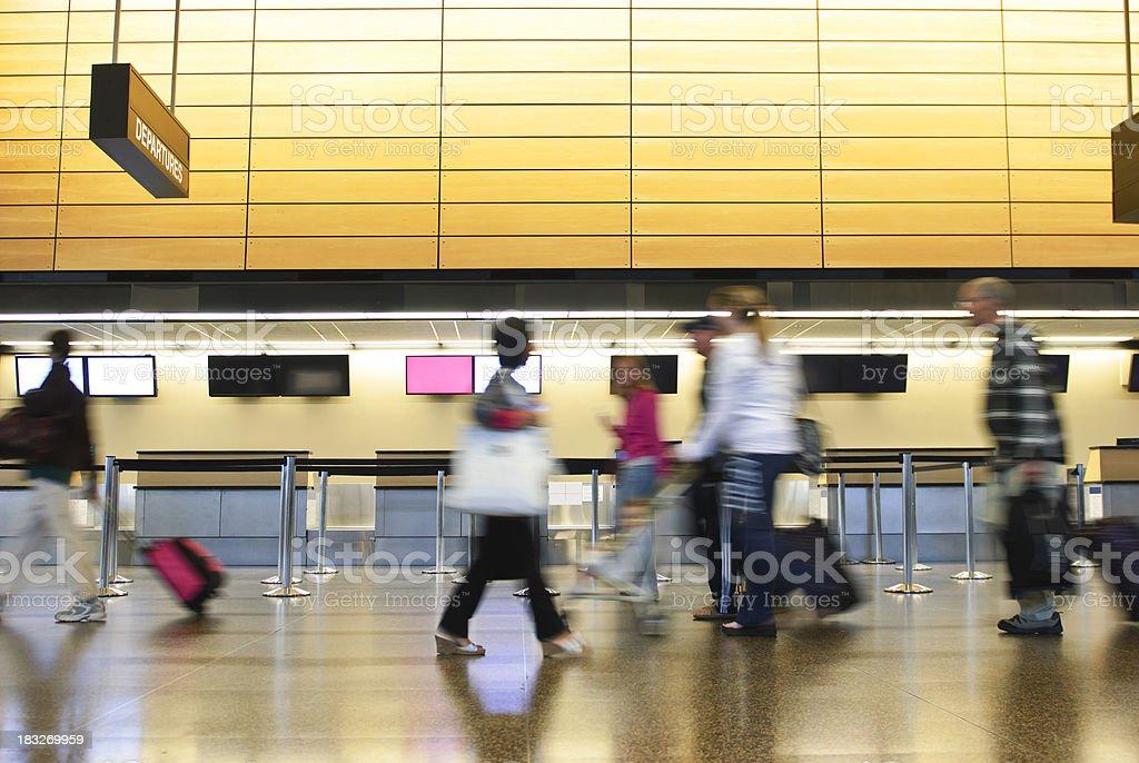 airport rush hour royalty-free stock photo