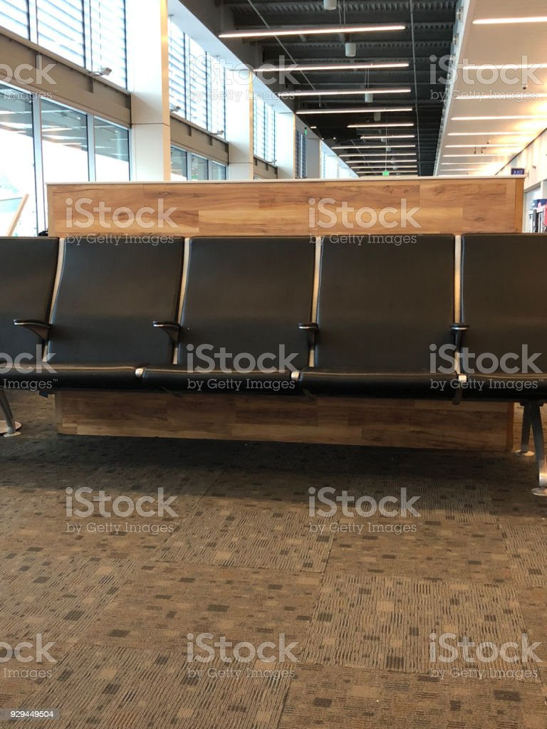 Airport seat stock photo