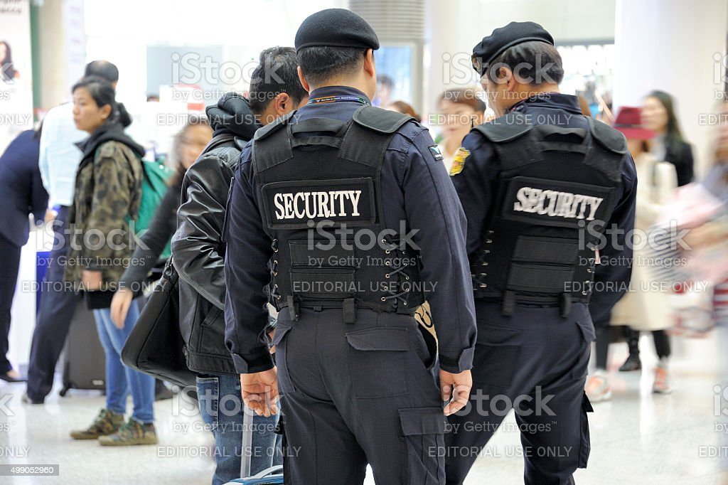 Airport security at Seoul Incheon International Airport stock photo