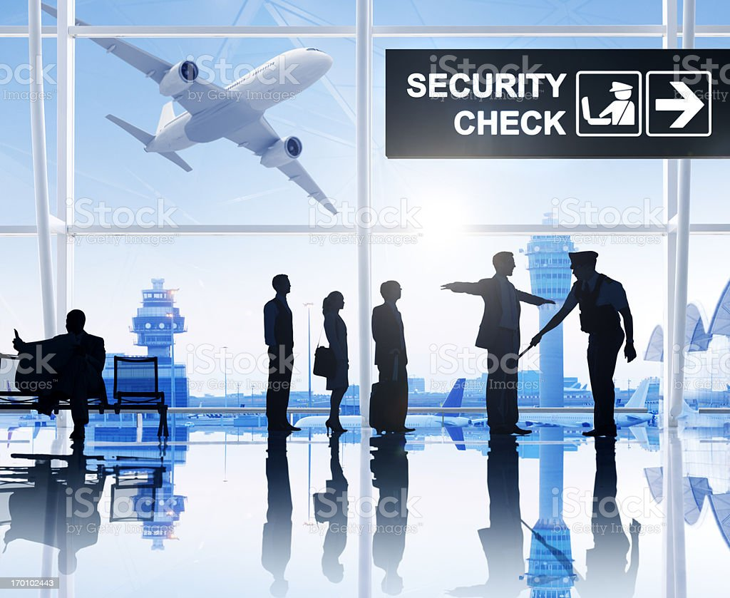 Airport Security Check. stock photo