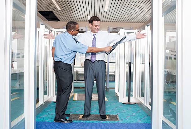 Airport Security Check Point stock photo