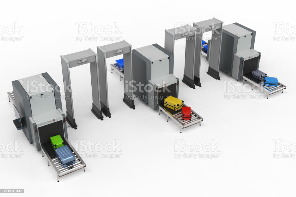 Airport Security Checkpoint Stock Photo - Download Image Now - iStock